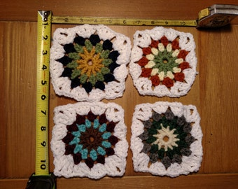 10 Crochet Granny Squares