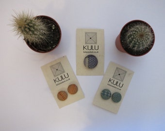 Hand Woven Buttons. Silk Buttons. Copper Buttons. By Kulucouture