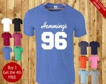 custom luke hemmings 96 t shirt tshirt t-shirt fan 5 seconds of summer - unisex S M L XL 2XL