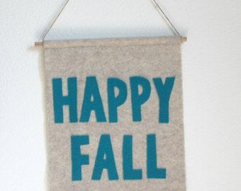 Happy Fall Felt Banner