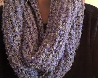 Lilac & Green Infinity Scarf
