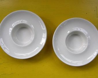 Arabia Finland: One Ceramic White Candle Holder