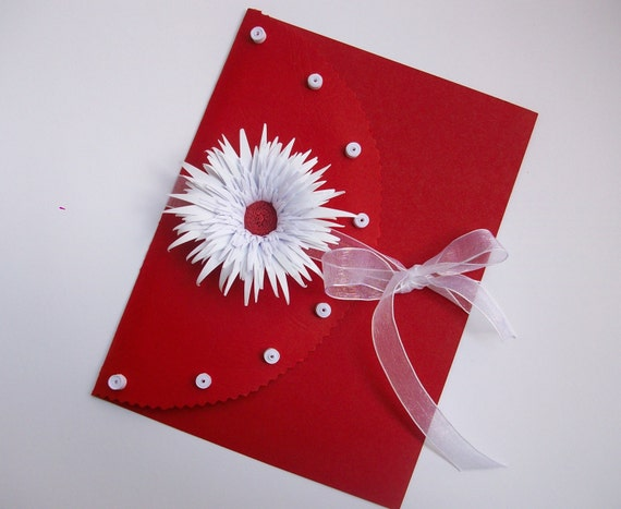 Wedding greeting card Valentines greeting card Handmade