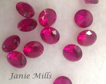 Ruby Faceted Gemstone 10 mm round