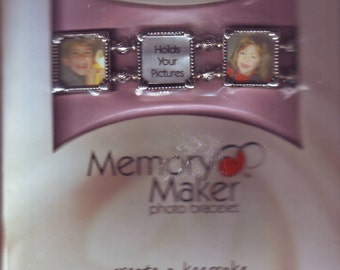 "NEW Memory Maker Med/Lg 7"" Photo Bracelet. Create a Keepsake Using Your Own Photos!"