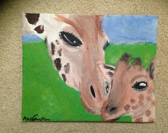 Giraffe Canvas Painting