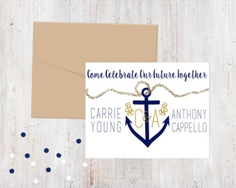 Engagement Party Invitation - Anchor's Away {Customized Printable Invitation}