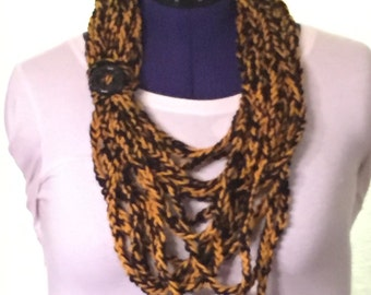 Black and Gold Chain Scarf