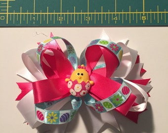 Easter boutique hair bow