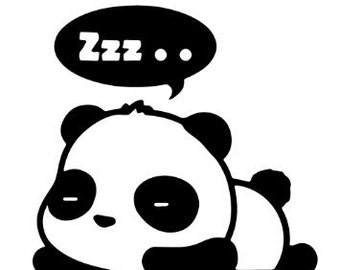 Sleepy panda Decal
