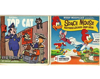 Vintage ViewMaster Packets, Top Cat B 513, B513, Space Mouse B 509, B509, Vintage View Master