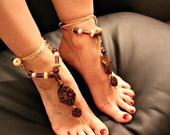 "Barefoot sandals ""Autumn Leaves"""