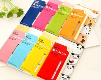 Stick Marker To Do List / Cute Sticky Notes / Cute Animal Stick Marker / Cute Stationery / Kawaii Schedule Notes / Animal Writing Marker