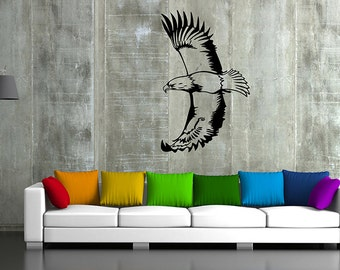 kik50 Wall Decal Sticker eagle bird predator living room bedroom