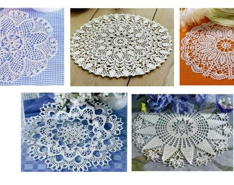 5 pcs crochet doily pattern-only diagram-in pdf-19