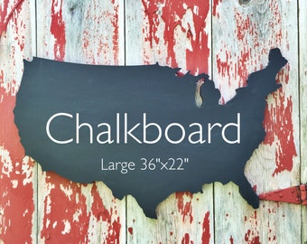 Map Wall Decor Chalkboard United States Map Home Decor - Us map chalkboard