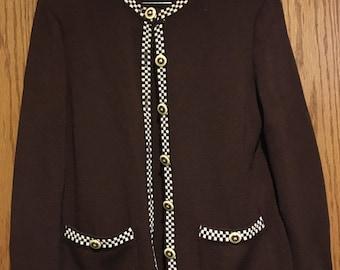 Vintage St. John Brown Knit Suit