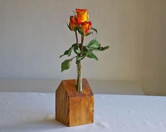 vase, for flowers,wood,glas,
