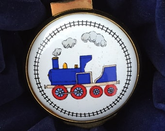 """Alastor Enamels """"TRAIN"""" Trinket Box (Collectible and Rare)"""