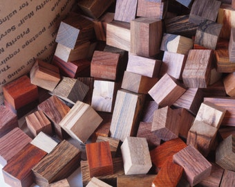 Exotic Wood Scraps - 250pc.  Mix