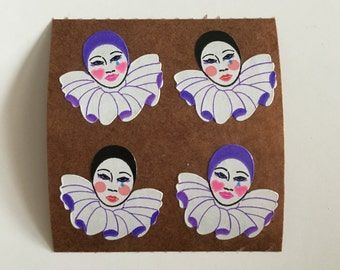 Vintage Pierrot Clown Stickers