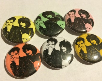 siouxsie and Robert Smith button 1""