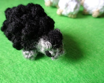 Crochet Miniature Sheep (Black)