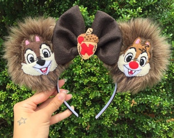 Chip n' Dale Fuzzy Mouse Ears
