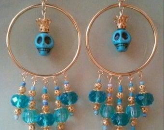 Blue crowned Skull set