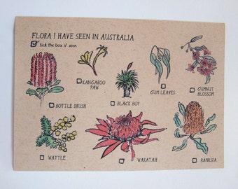 Flora I have seen in Australia Postcard