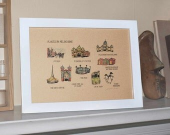 Places in Melbourne Print