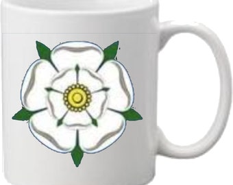 White Rose of Yorkshire Printed Mug