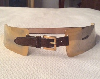 Gucci Seventies suede and metal belt