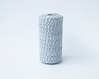 Light Blue and White Twine - 110 yards