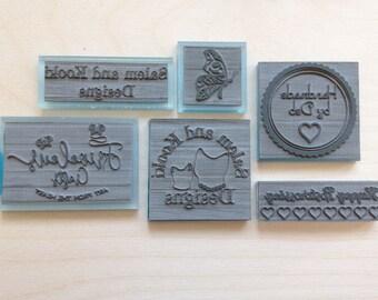 Custom rubber stamp, 8x4cm logo stamp, address stamp, wedding stamp, medium stamp, happy mail, return address, personalised stamp