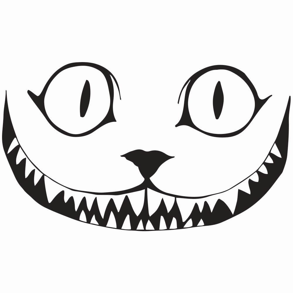 cheshire cat clip art - biezumd - Cheshire Cat Smile Coloring Pages