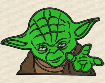 Star Wars Yoda Applique Embroidery Design 3 Sizes
