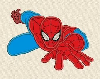 Spiderman Applique Embroidery Design 4 sizes #2