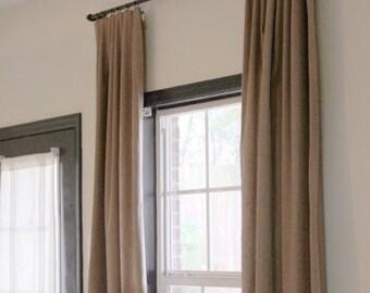 "Industrial curtain rod (Curtain 60""-72"")(Depth 3"" or 4"")"