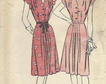Advance 4227 1940'S Scalloped Dress Pattern PRINT AT HOME