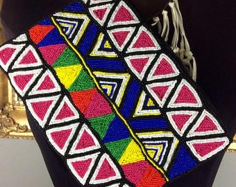 Gorgeous Colorful Bohemian Beaded Wrist Bag
