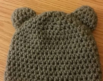 Baby bear hat for boy or girl size made to order!!!!