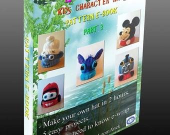 Kids character hats - pattern eBook (part 3)