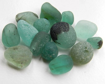 Teal Shades Bonfire Sea Glass