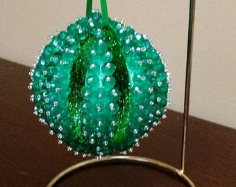 Christmas Ornament - Green with Green