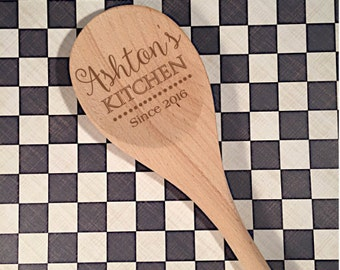 Personalized Spoon - Mom's Kitchen Spoon - Housewarming Gift - Gift for Her - Gift for Him - Kitchen Gift - Tasting Spoon