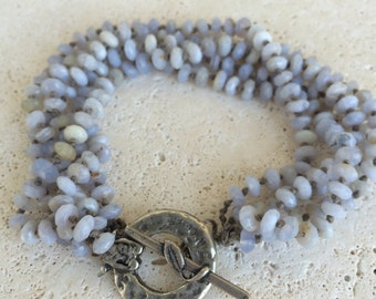 Stone beaded bracelet with gorgeous clasp