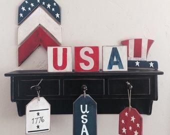 Free Shipping~Set of 3 Americana Tags
