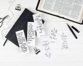 Bible Verse Bookmarks Set A (pack of six)