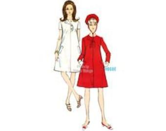 Vintage Vogue Misses sz 12 One Piece Dress, 7067